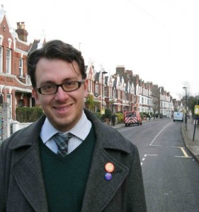 Martin Tiedemann on the campaign trail in Brixton Hill