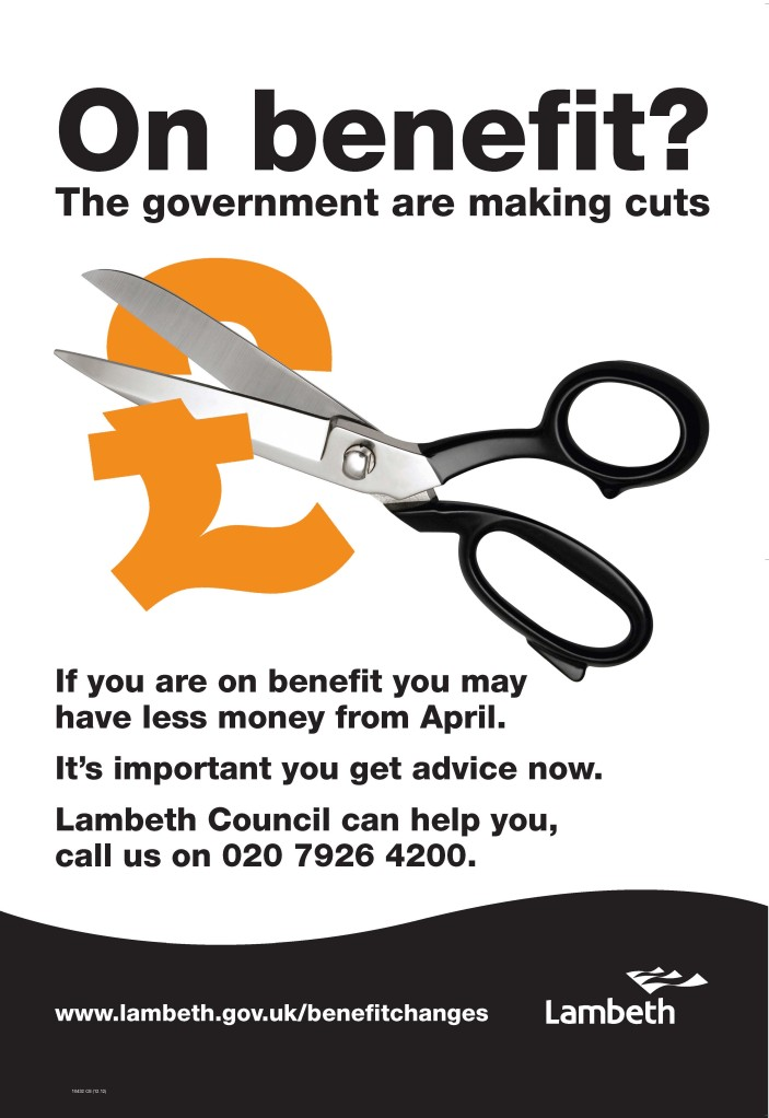 benefit cuts poster